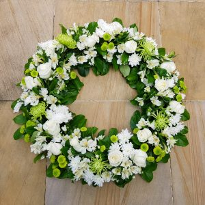 Large Wreath in White