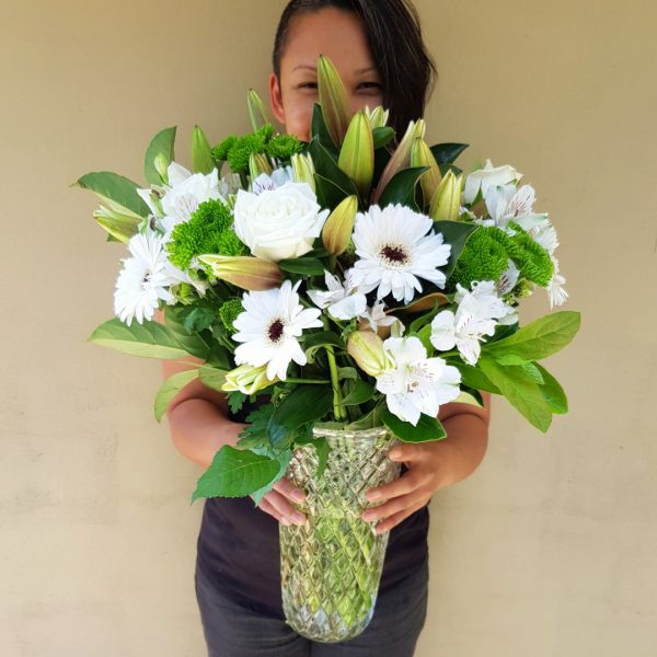 The Abigail Flower with Style White Flowers Gold Coast Florist Hospital Approved